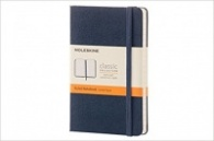 Moleskine Classic Notebook, Pocket, Ruled, Sapphire Blue, Hard Cover [3564]