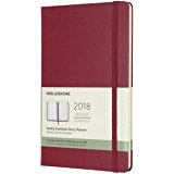 Moleskine 12 Month Weekly Planner 2018, Pocket, Berry Rose, Hard Cover [5686]